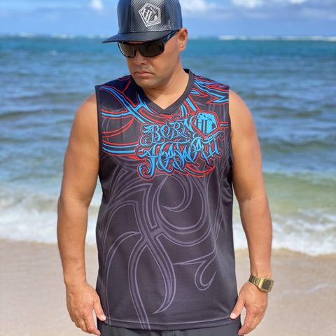 Born Hawaii Jersey INVADED TANK RED TEAL