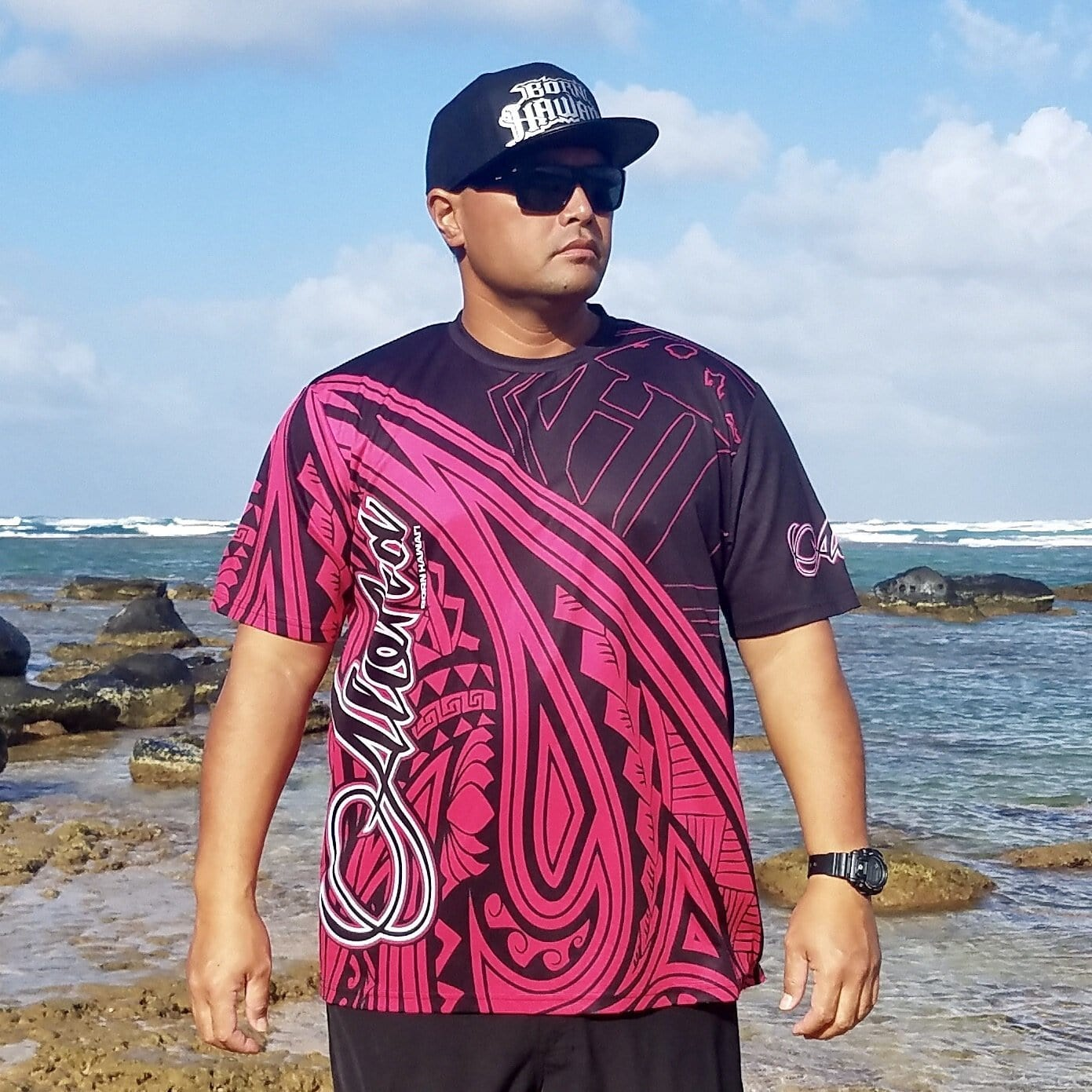 Born Hawaii Jersey Pink ALOHA Tattoo Jersey