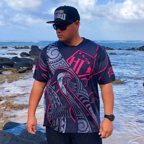 Born Hawaii Jersey Pink MAKANI Tattoo Jersey