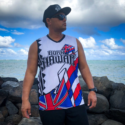 Born Hawaii Jersey Tank Top HI Flag TANKTOP Jersey