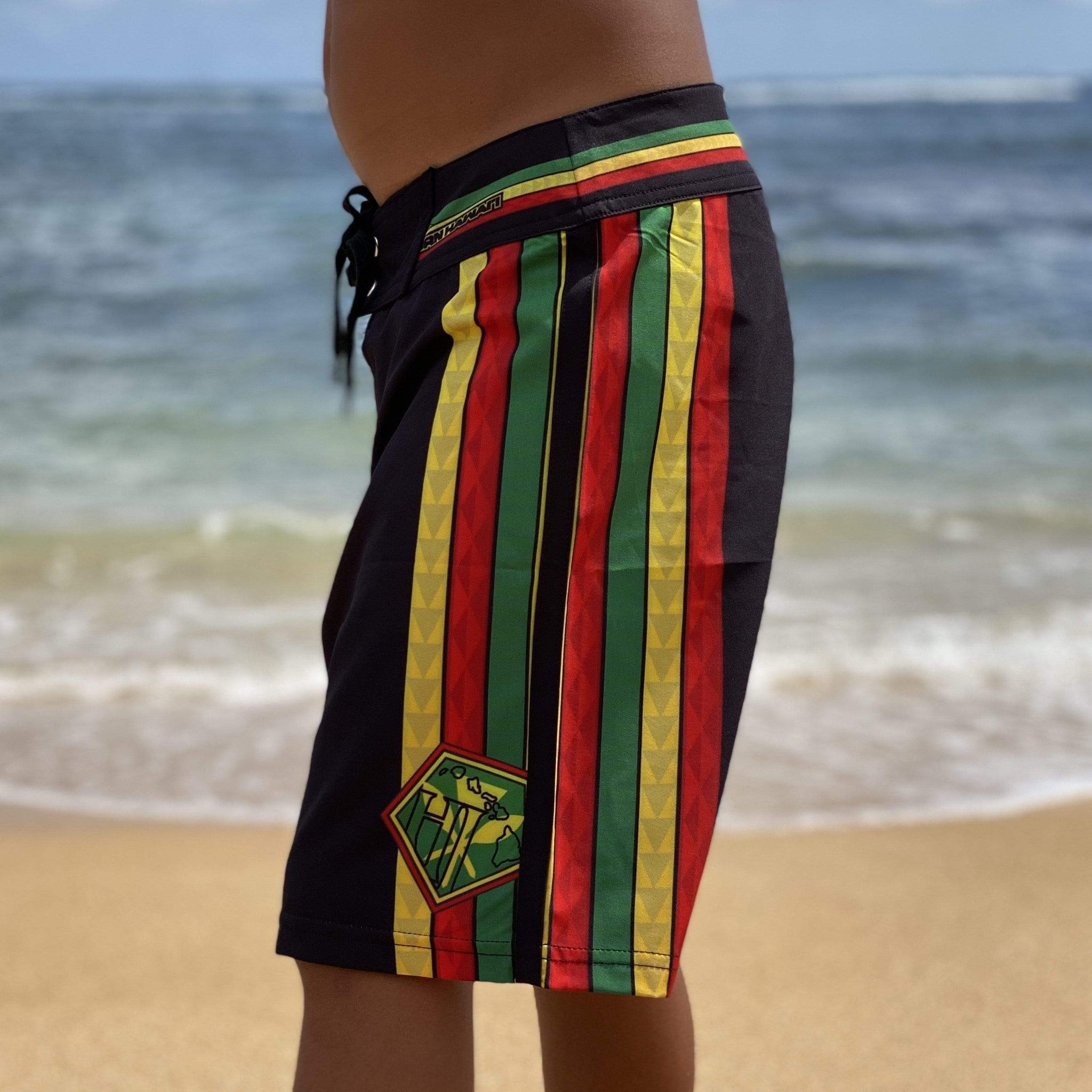 Born Hawaii KIDS TEAM KANAKA YOUTH BOARDSHORTS