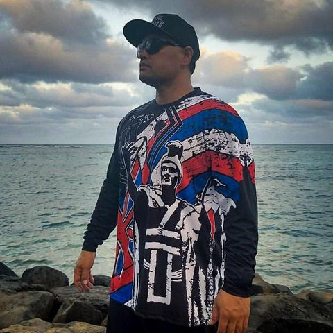 "Born Hawaii Long Sleeve Hawaiian ""Da King"" Long sleeve Drift Jersey"