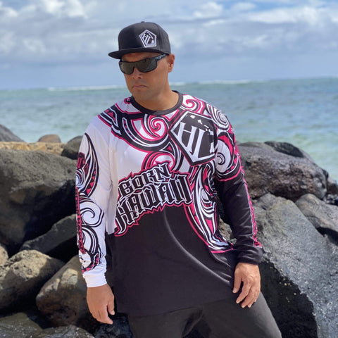 Born Hawaii Long Sleeve KAINO LONGSLEEVE PINK