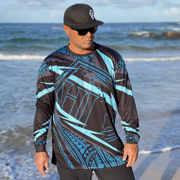 Born Hawaii Long Sleeve MOTO TAT LONGSLEEVE TEAL