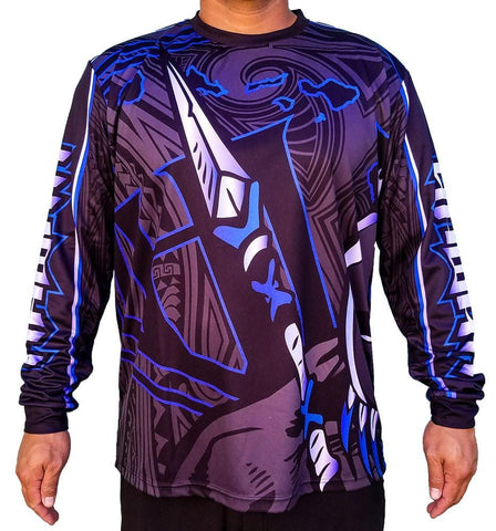 Born Hawaii Long Sleeve WARRIOR LONG SLEEVE BLUE