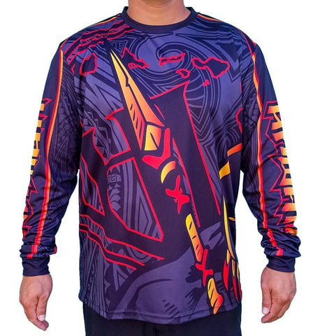 Born Hawaii Long Sleeve WARRIOR LONG SLEEVE FIRE