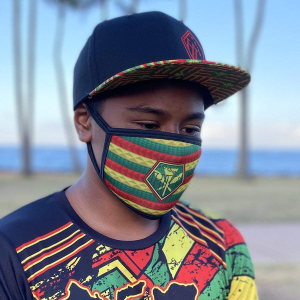 Born Hawaii MASK KANAKA FLAG FACE MASK