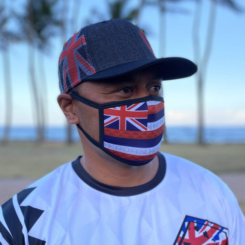 Born Hawaii MASK PRE-ORDER HAWAIIAN FLAG FACE MASK
