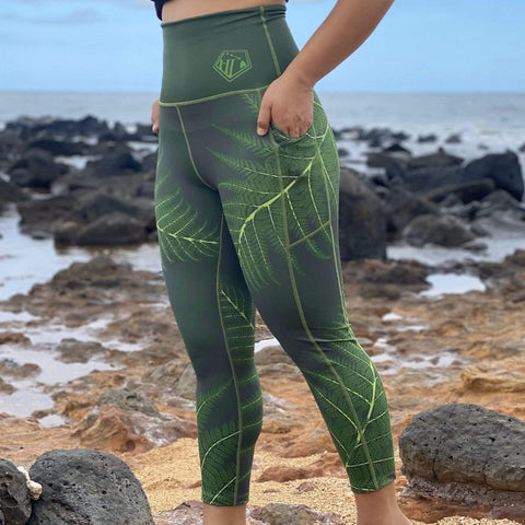 Born Hawaii PALAPALAI LEGGING GREEN