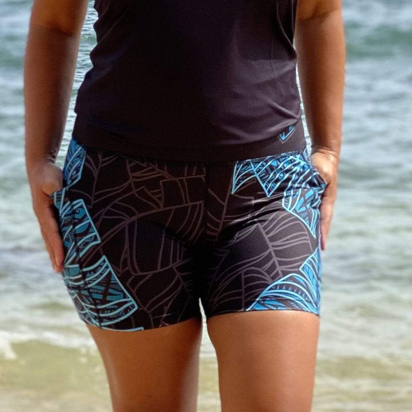 Born Hawaii Womens LAU SPANDEX SHORTS TEAL