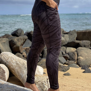 Born Hawaii Womens POLY TAT LEGGING ALL BLACK