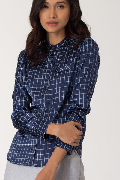Atlantic Silk-Satin Formal Shirt
