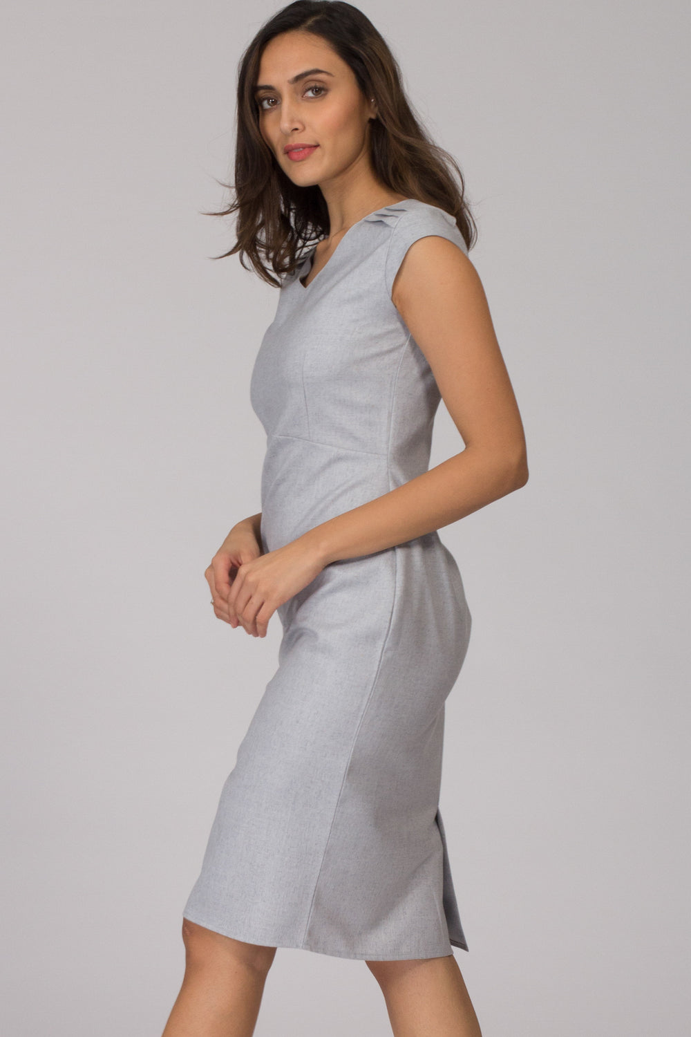 Napoli Stone Blue Shift Dress