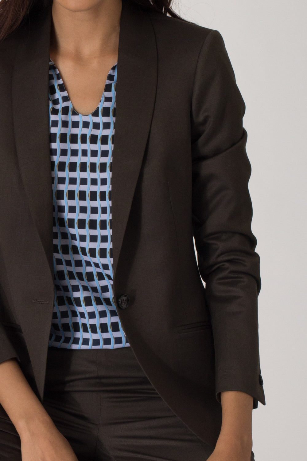 Dark Green Formal Blazer Suit for Working Women. Shop for stylish office suits and professional looks at www.intermod.in