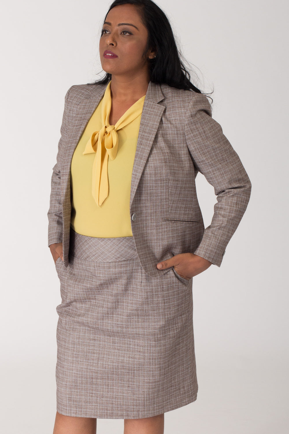 Cotton Formal Blazer for Working Women. Shop for formal business suits and formal trousers, dresses online at www.intermod.in