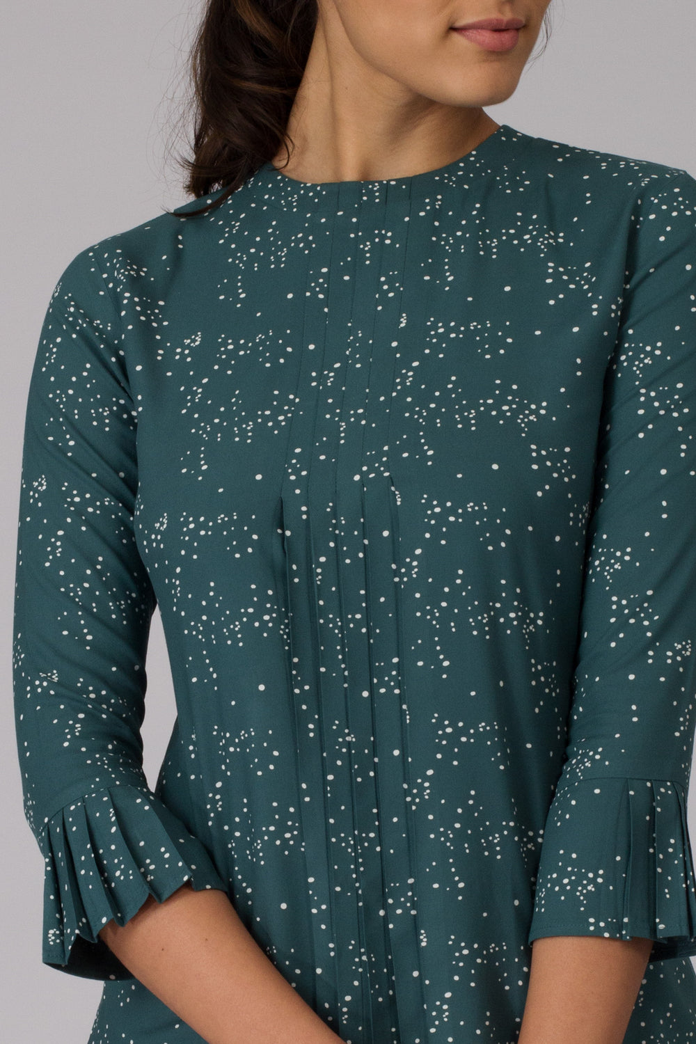 Green Galaxy Pleated top
