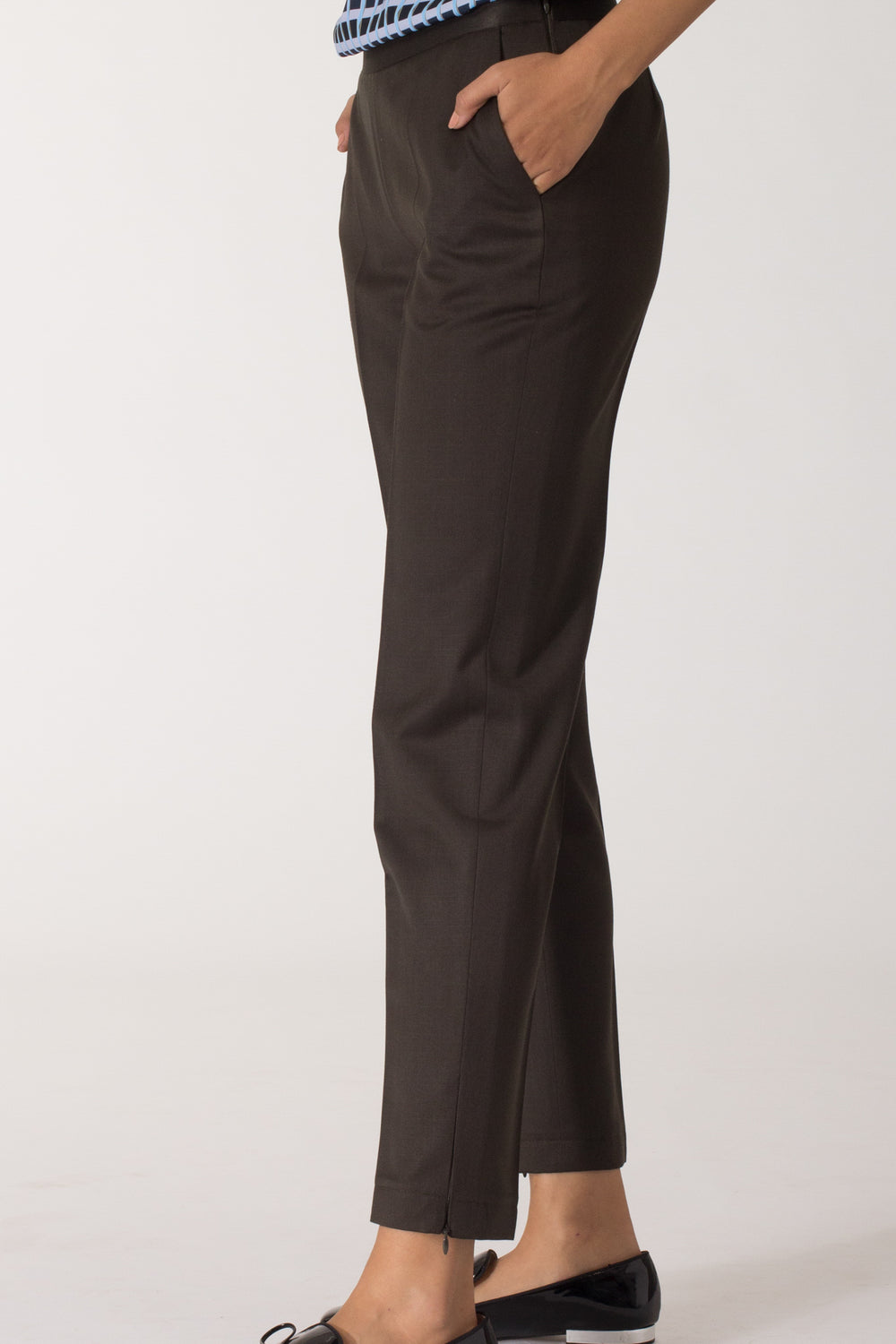 Deep Olive Slim fit Trousers