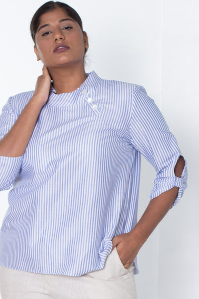Oxford Striped Cotton Top