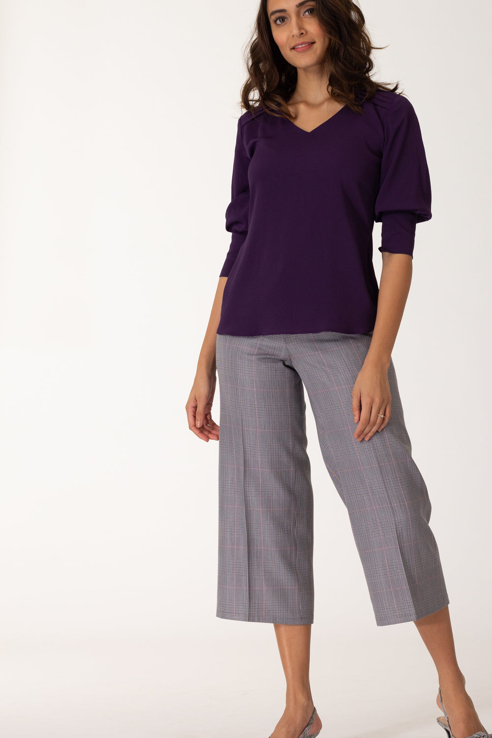 Viola Pleated Shoulder blouse