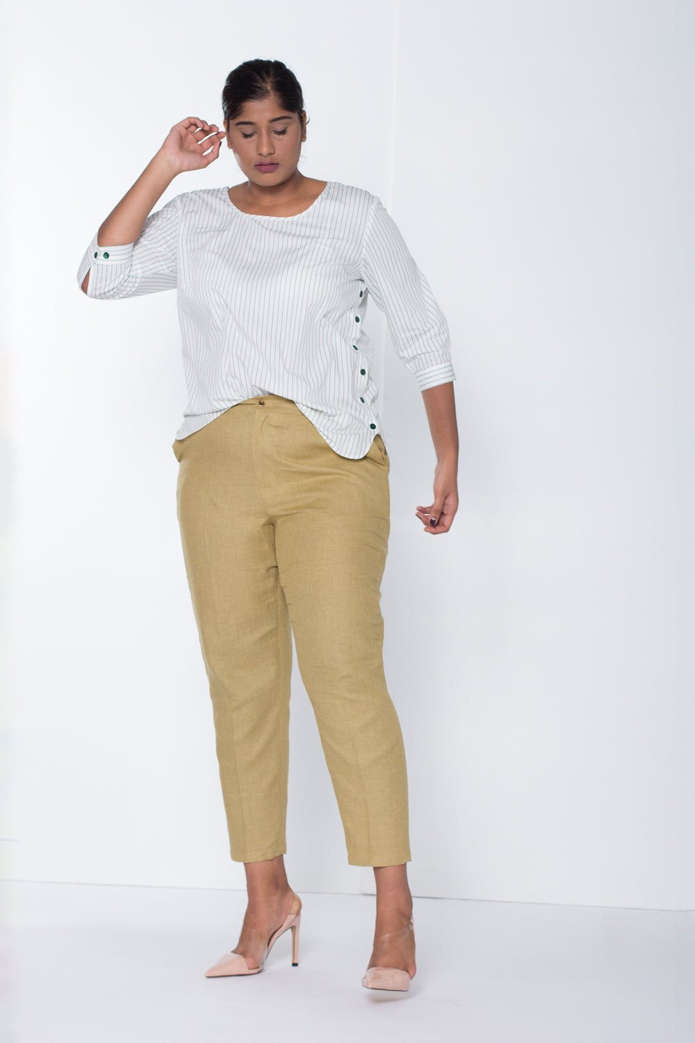 Light Olive Cotton Pants