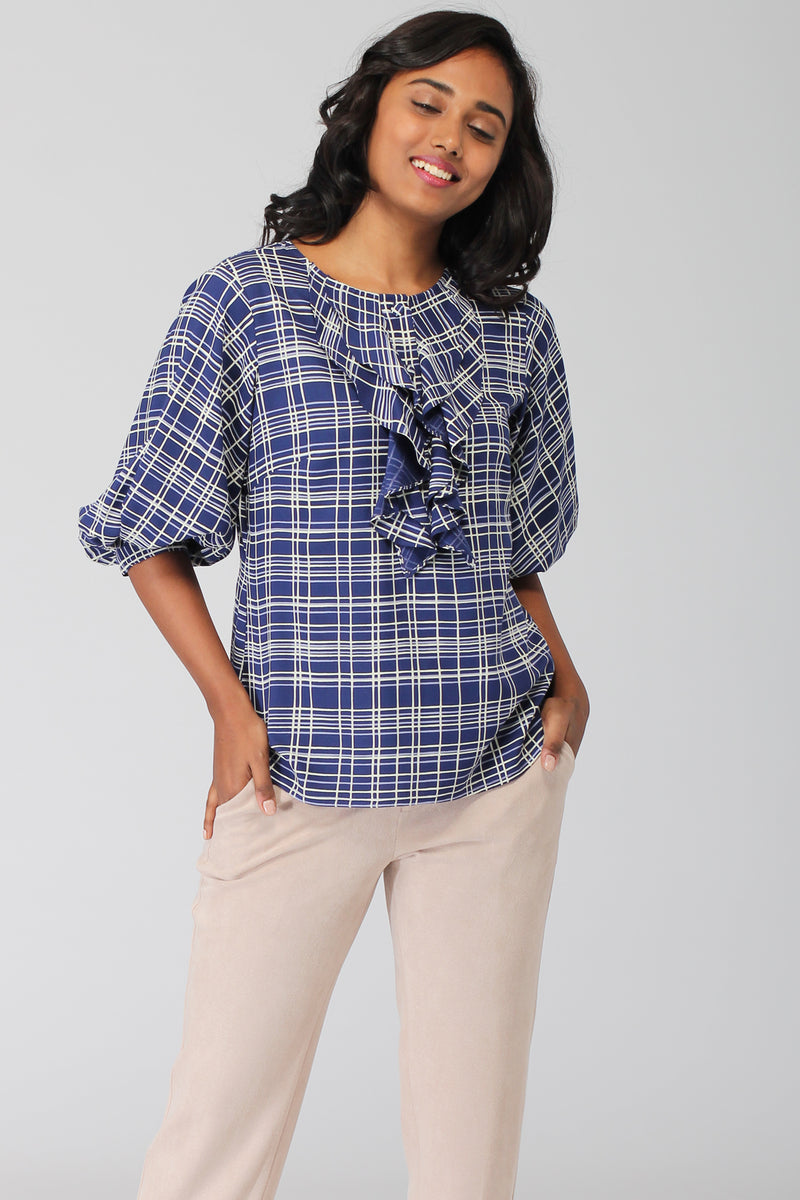 Pacific Ruffle Popover Top