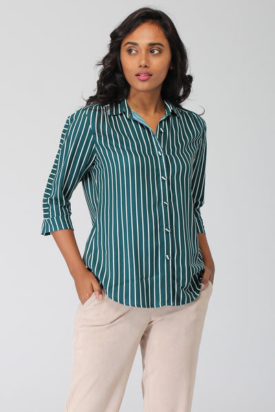 Andaman Shirt with Structured Sleeve