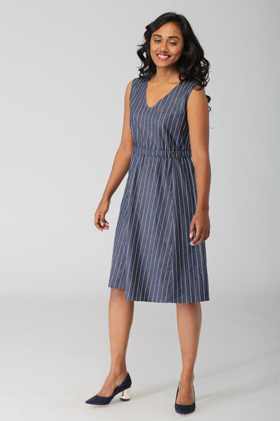 Indie A Line Dress in Indigo