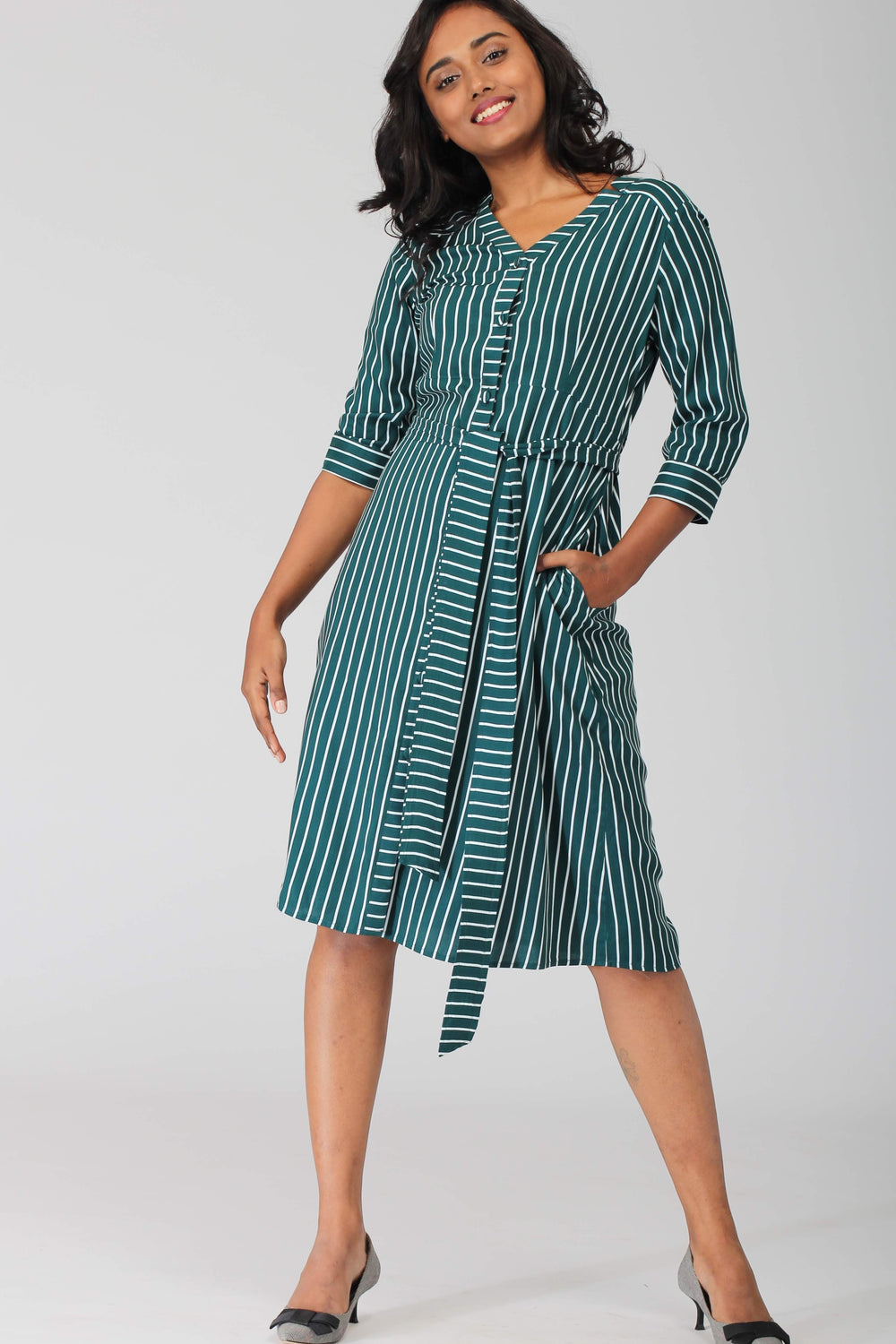 Tokyo A line Shirt Dress with removable belt