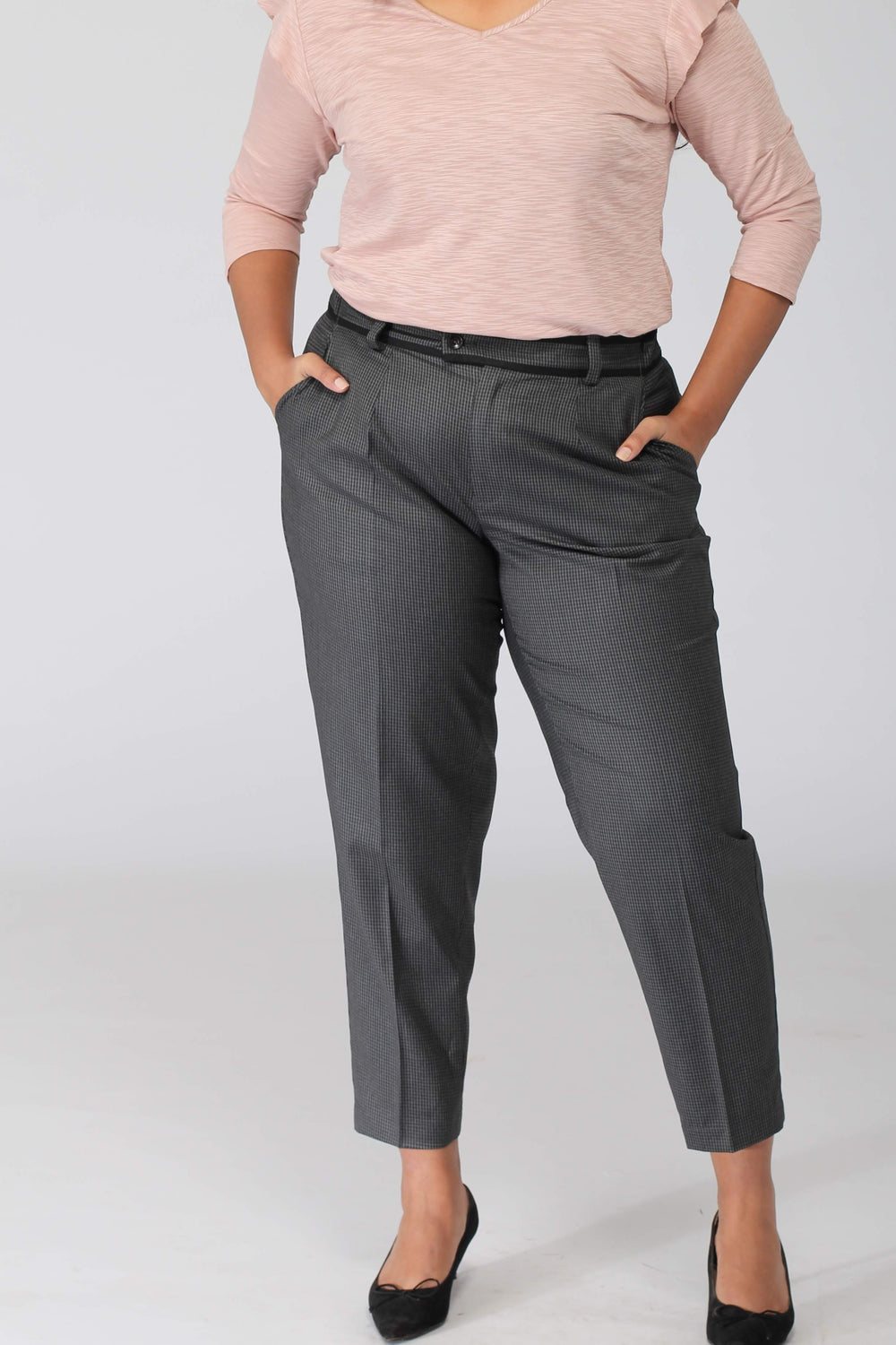 Ithaca Grey Herringbone Pants