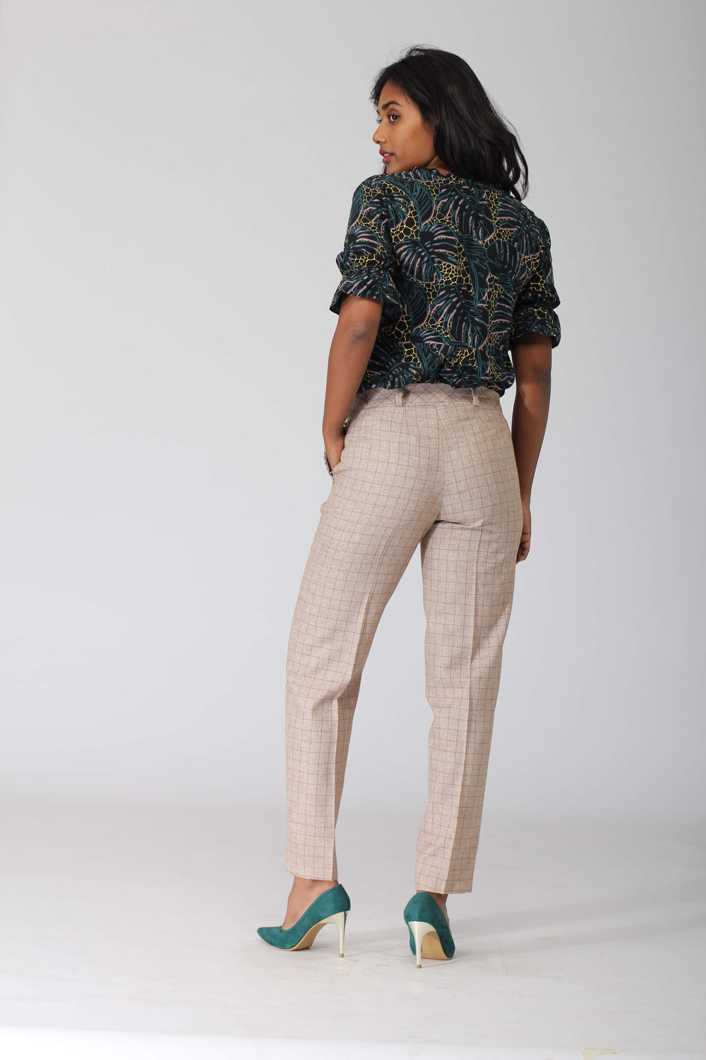 Dunkirk Windowpane Check Pants