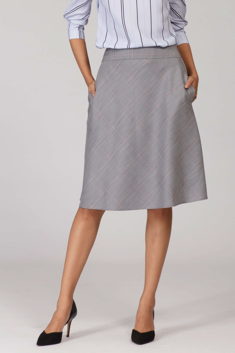 Glen Plaid A line Flowy Skirt