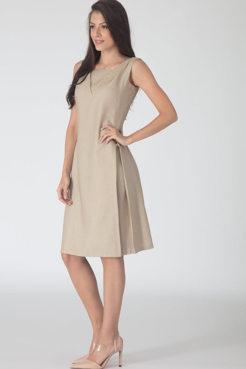 Orient Beige A line Dress