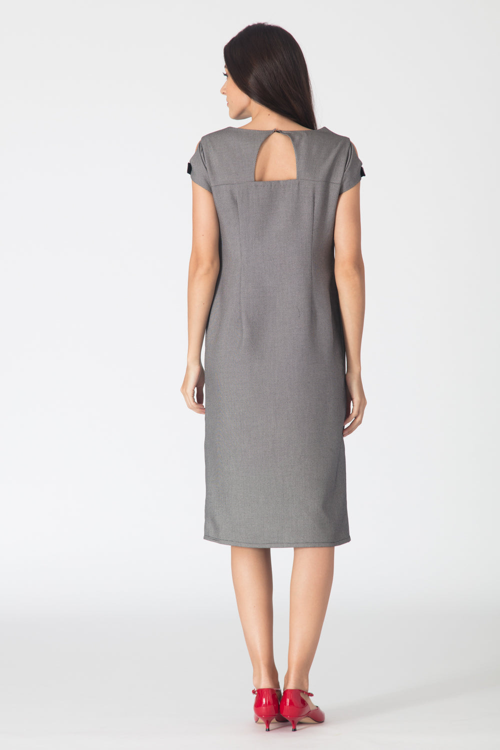 Pipa Shift Dress - Grey