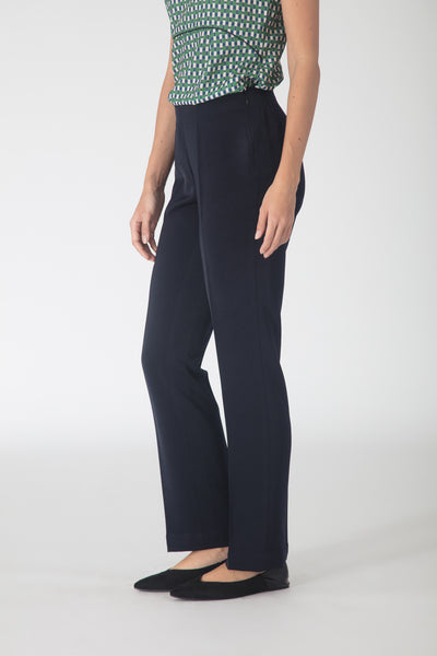 Navy Flowy Trousers