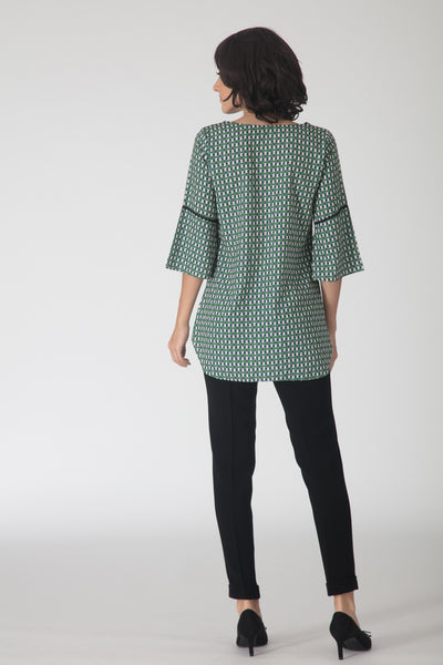 Jade Bow-tie Tunic Top