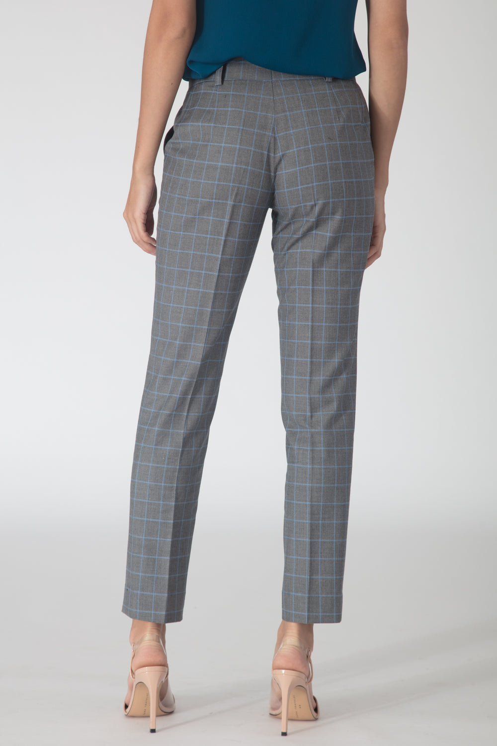 Windowpane Trousers - Grey