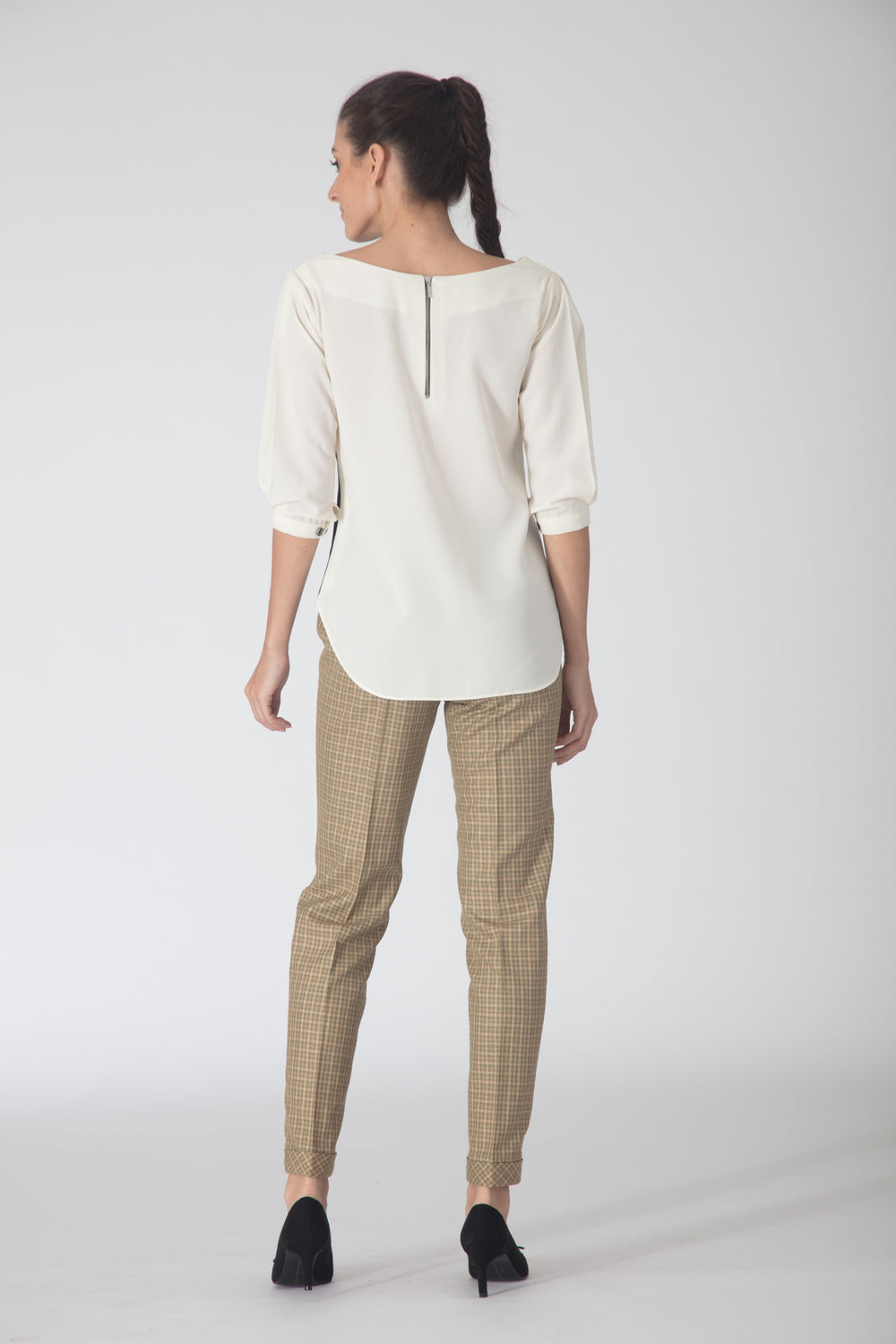 Peaches Contrast Flowy Blouse