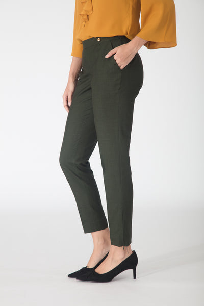 Army Green Slim fit Trousers