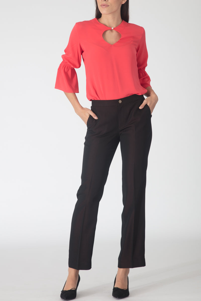 Reis Wine Colored Flowy Trousers
