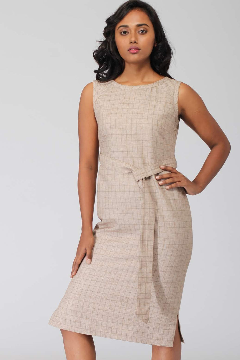Dunkirk Shift Dress with removable belt