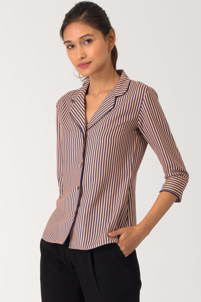 Bonita Notch Lapel Collar Shirt