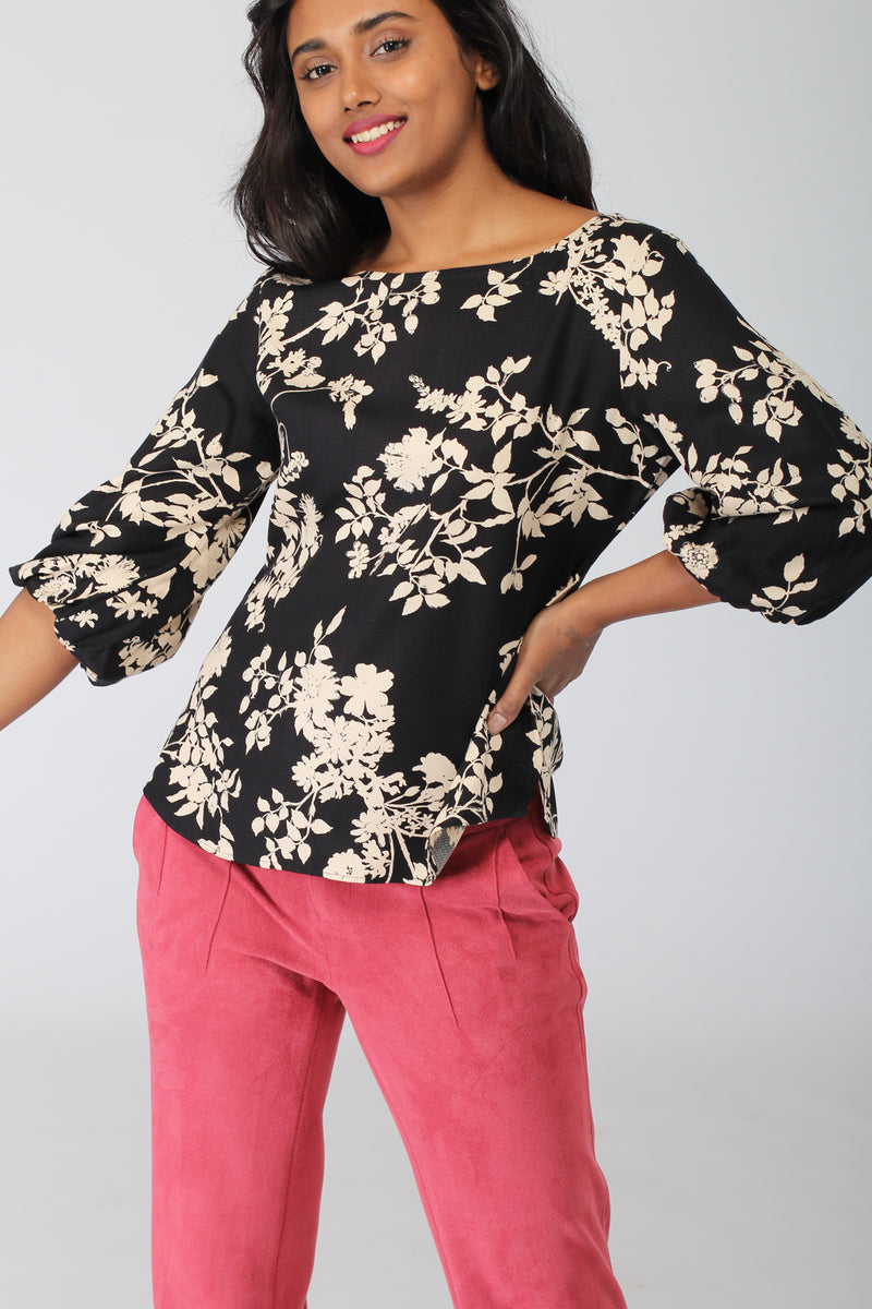 Brussels Top with Blouson Sleeves