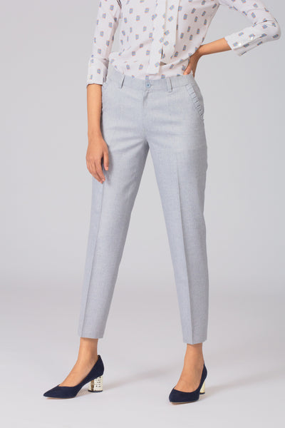 Smart and stylish women's formal pants and trousers for office. Shop online for formal trousers and pants at www.intermod.in