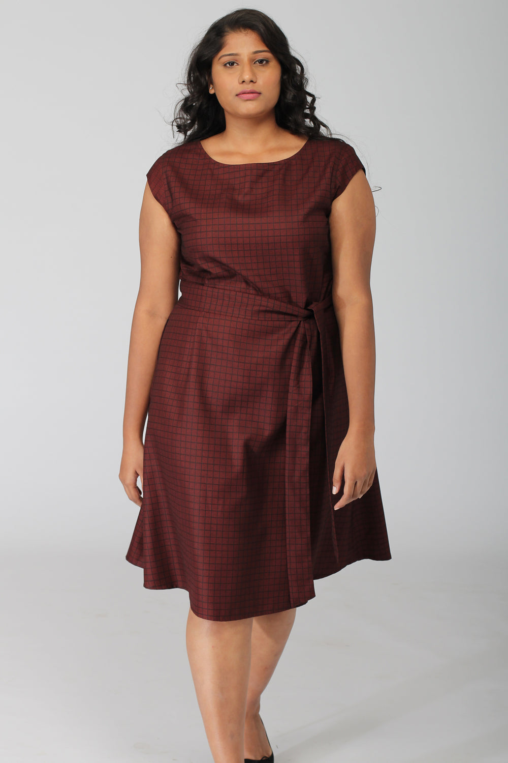 Rochelle dress with back bow and removable belt