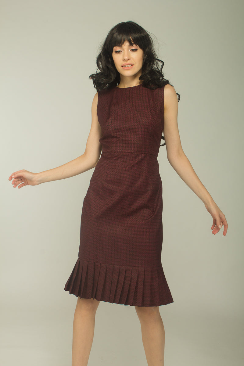 Ferris Kick Pleat Dress