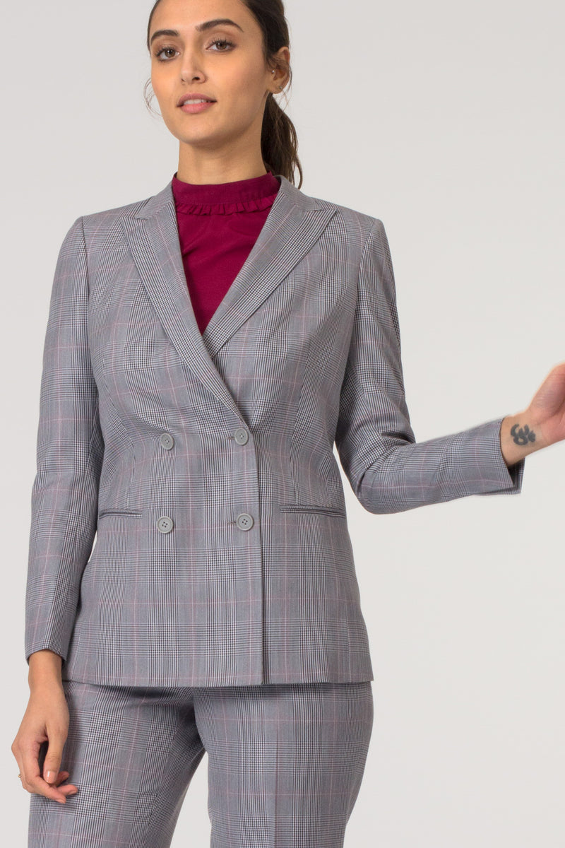 Grey Formal Blazer Suit for Working Women. Shop for stylish formal trousers and suits, professional looks at www.intermod.in