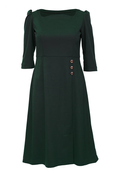Green Elizabethan A line Dress