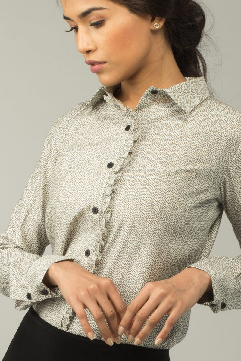 Greenwich Ruffle Cotton Shirt