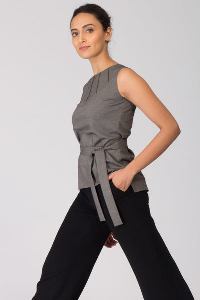 Osaka Knit Top with Removable Belt