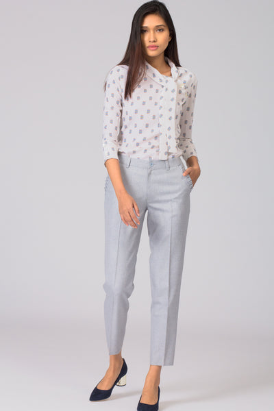 Smart and stylish women's formal pants and trousers for office. Shop online for all sizes including plus size formal trousers and pants at www.intermod.in